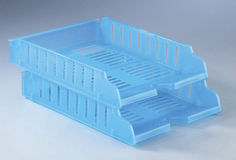 Plastic file rack Stock Photography