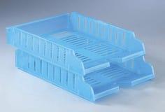 Plastic file rack Stock Photography