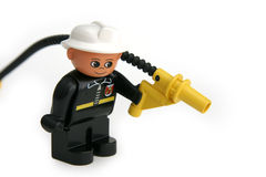 Plastic fireman figure Royalty Free Stock Images