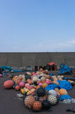 Plastic fishing floats Stock Images