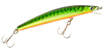 Plastic fishing lure isolated on white Royalty Free Stock Photography