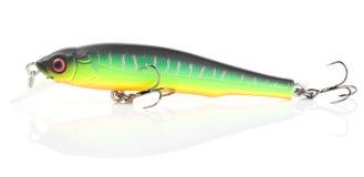 Plastic fishing lure (wobbler) isolated on white Stock Photo