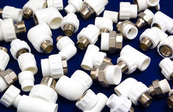 Plastic fittings Royalty Free Stock Photos