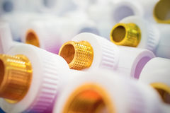 Plastic fittings for pipes. Stock Images