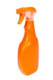 Plastic flaskor av cleaningprodukter Arkivbilder