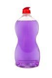 Plastic flaskor av cleaningprodukter Arkivfoto