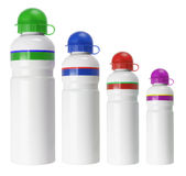 Plastic Flasks Stock Images