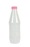 Plastic Fles voor Melkachtige Dranken Royalty-vrije Stock Afbeeldingen