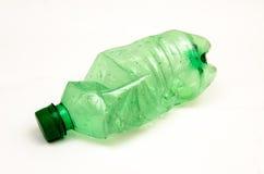 Plastic fles voor recycling stock foto