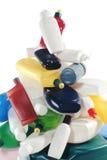 Plastic flessen Stock Afbeeldingen