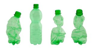 Plastic flessen royalty-vrije stock foto's