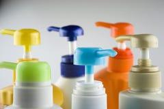 Plastic flessen Royalty-vrije Stock Afbeeldingen
