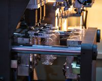 Plastic Flessen Blazende Machine royalty-vrije stock fotografie