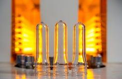 Plastic flessen makend proces royalty-vrije stock foto's