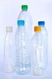 Plastic flessen voor kringloopproces Royalty-vrije Stock Afbeeldingen