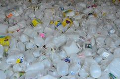 Plastic flessen voor recycling Stock Fotografie
