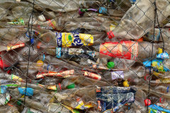 Plastic flessenafval Stock Fotografie