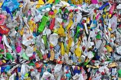 Plastic flessenafval Royalty-vrije Stock Afbeeldingen
