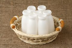Plastic flessenpakken Royalty-vrije Stock Foto