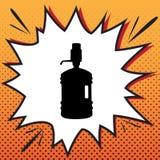 Plastic flessensilhouet met water en sifon Vector comics royalty-vrije illustratie