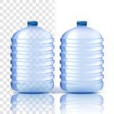 Plastic Flessenvector Maak dekking schoon Blauwere Klassieke Waterfles met GLB Container voor Drank, Drank, Vloeistof, Soda royalty-vrije illustratie