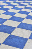 Plastic flooring. White and blue Plastic flooring Royalty Free Stock Photos