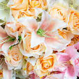 Plastic flower background Stock Images