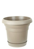 Plastic flower pot Royalty Free Stock Image