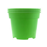 Plastic Flower Pots Stock Photos