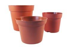 Plastic flower pots Stock Image