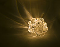 Plastic flower shining from within Stock Image