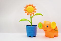 Plastic flower toy Royalty Free Stock Photography