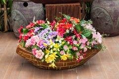 Plastic flowers Royalty Free Stock Image