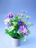 Plastic flowers  vase Stock Image