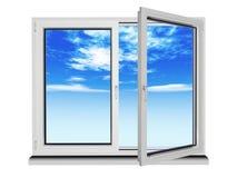 plastic fönster Royaltyfri Foto