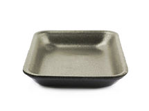 Plastic foam food tray isolated Royalty Free Stock Photos
