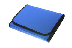 Plastic folder. For documents on a white background Royalty Free Stock Photography
