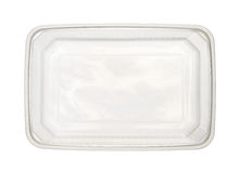 Plastic food box. Top view of plastic food box isolated on white background Stock Photography