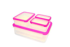 Plastic food container Royalty Free Stock Photos