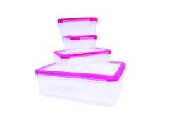 Plastic food container Stock Photos