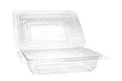 Plastic food container. Royalty Free Stock Photo