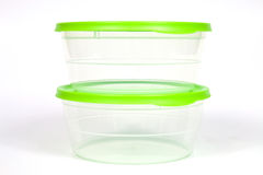 Plastic food containers Royalty Free Stock Photography