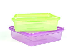 Plastic food containers Royalty Free Stock Photo