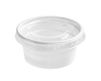 Plastic food cup Royalty Free Stock Images