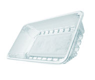 Plastic food package isolated Stock Photos