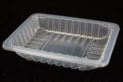 Plastic food tray Stock Photos