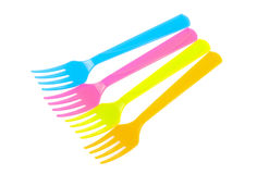 Plastic fork Royalty Free Stock Images