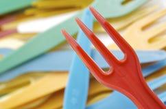 Plastic forks Stock Image