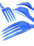 Plastic forks Stock Photo