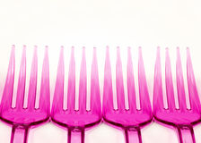 Plastic forks Stock Photography